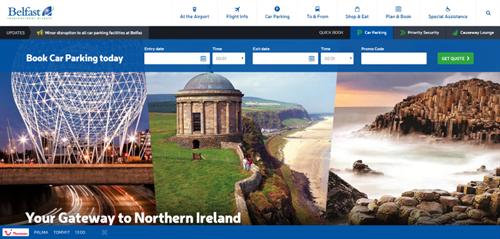 Belfast Airport Top 10 Best Airport Website 2016 Gibe Digital
