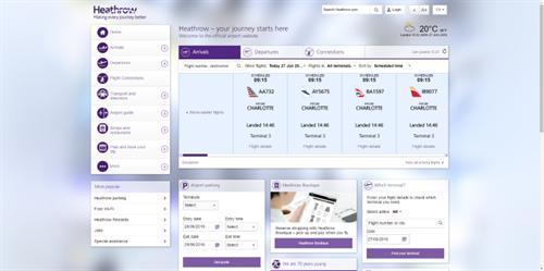 Heathrow Top 10 Best Airport Website 2016 Gibe Digital