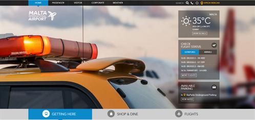 Malta Airport Top 10 Best Airport Website 2016 Gibe Digital