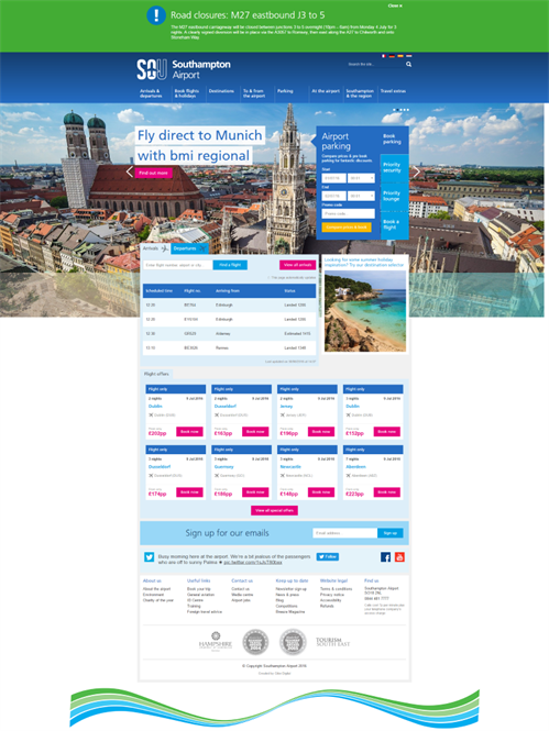 Southamptonairportcom 10 Best Airport Website 2016 Gibe Digital